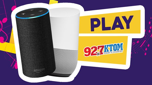 None - Listen to 92.7 KTOM on Amazon Alexa or Google Home!