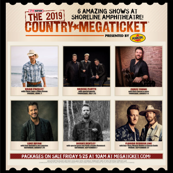 None - The 2019 Country Megaticket!