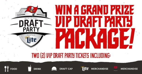 Win A Buccaneers Draft Day VIP Package
