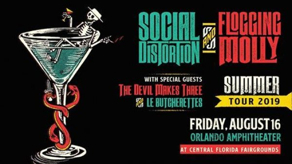 None - Social Distortion & Flogging Molly August 16th Orlando Amphitheater