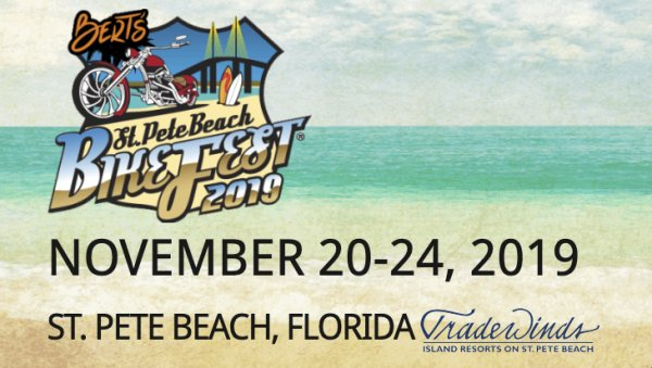 None - Win VIP Hotel Package for St Pete Beach Bikefest 2019
