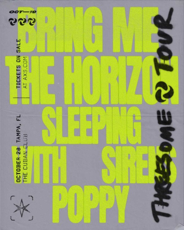 None - Bring Me The Horizon October 28 Cuban Club
