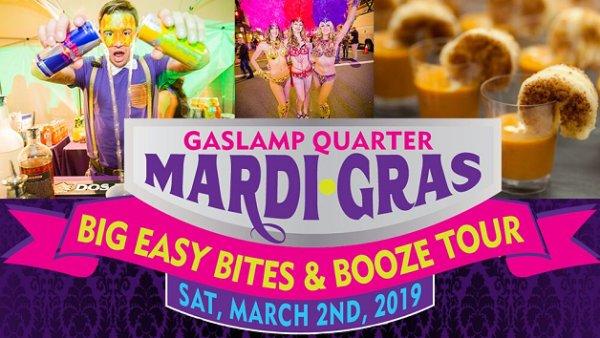Win Gaslamp Mardi Gras Beads, Bites & Booze Tour Tickets