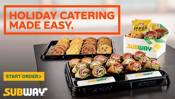 None -  Win a Holiday Catered Lunch for 50 from Subway!