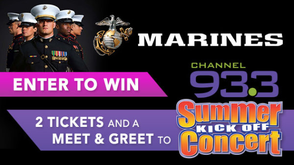Enter for a Chance to Win 2 Tickets and a Meet and Greet to Channel 933 Summer Kickoff Concert!
