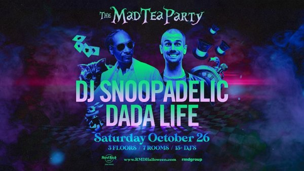 None - Win tickets to The Mad Tea Party at Hard Rock Halloween