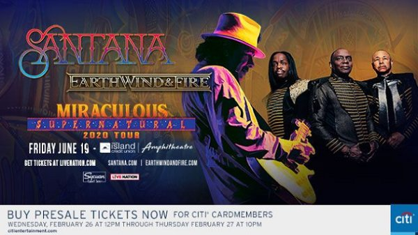 image for Win Santana and Earth, Wind & Fire Tickets