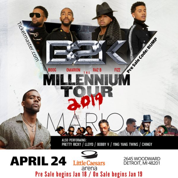 None - Win a pair of tickets to the Millenium Tour featuring B2K