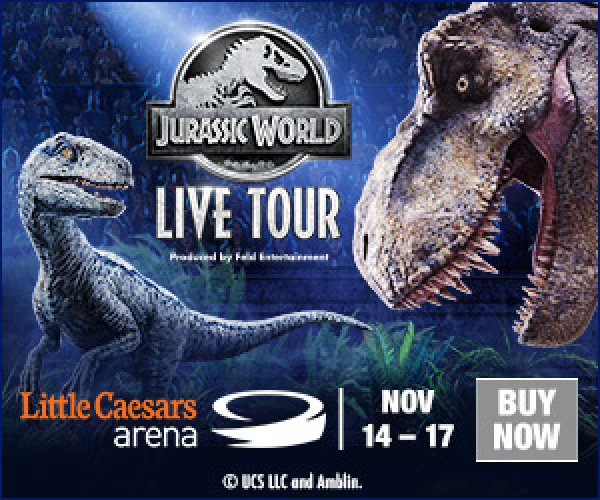 None - Win a 4-pack of tickets to Jurassic World Live!