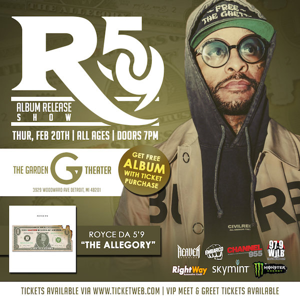 image for Win tickets to Royce Da 5'9 Album Release Concert
