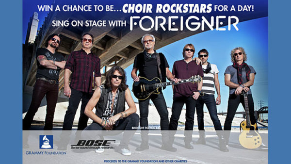 None - Your choir could sing with Foreigner - 10/13 @ ilani Casino Resort