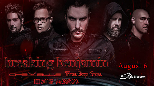 None - See Breaking Benjamin at Blossom!