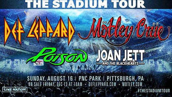None - The Stadium Tour - Def Leppard, Motley Crue, Poison, Joan Jett @ PNC Park!