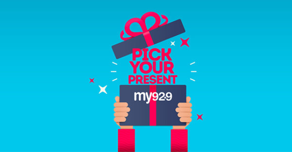 None - Win with My 92.9's Pick Your Present!
