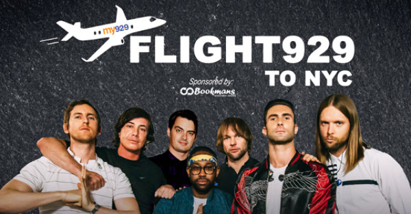 None - Win a trip to NYC to see Maroon 5 with Flight 929!