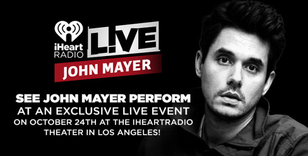 Iheartradio contests tickets trips more iheartradio none see john mayer perform at an exclusive live event on october 24th at the m4hsunfo