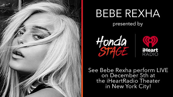 None -   See Bebe Rexha Perform LIVE On December 5th At The iHeartRadio Theater In New York City!