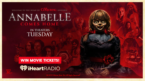 None -    Enter For A Chance To Win 4 Movie Tickets To See Annabelle Comes Home, Courtesy Of Fandango!