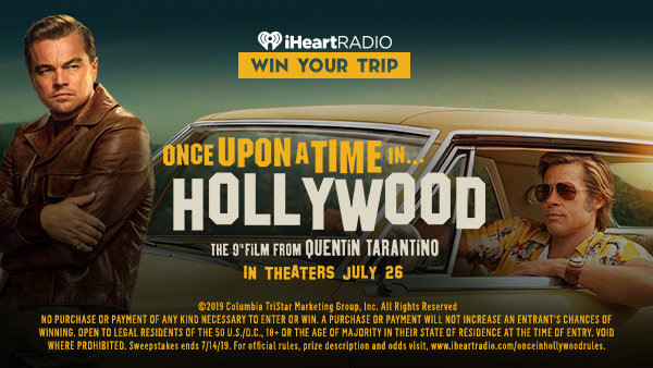 None - Enter For The Chance To Win A Once Upon A Time In Hollywood Premiere Experience!