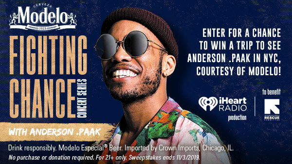 None - Enter For A Chance To Win A Trip To See Anderson .Paak In NYC, Courtesy of Modelo!