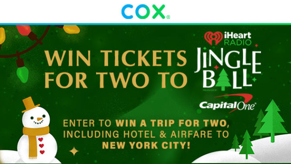None - Enter To Win A Trip For Two To Our iHeartRadio Jingle Ball in NYC!
