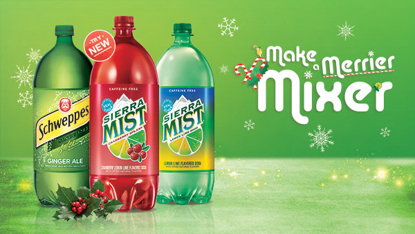 Make a Merrier Mixer with Sierra Mist and Schweppes this holiday season!