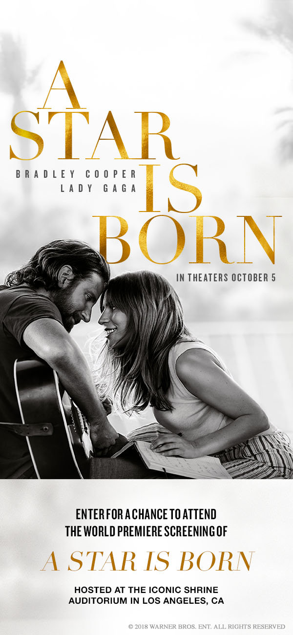 Be The First To See 'A Star Is Born' At The World Premiere