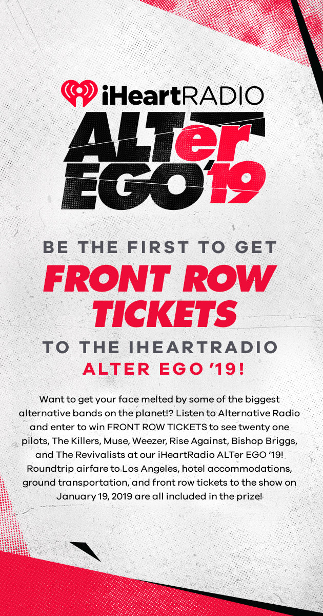 Be The First To Get FRONT ROW TICKETS To iHeartRadio ALTer