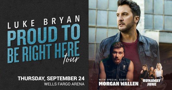 None - Win tickets to Luke Bryan at Wells Fargo Arena!