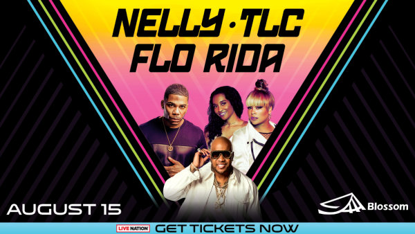 None -   Listen at 7:40am, 5:40pm & 9:40pm all this week to win tickets to NELLY, TLC and FLO RIDA!