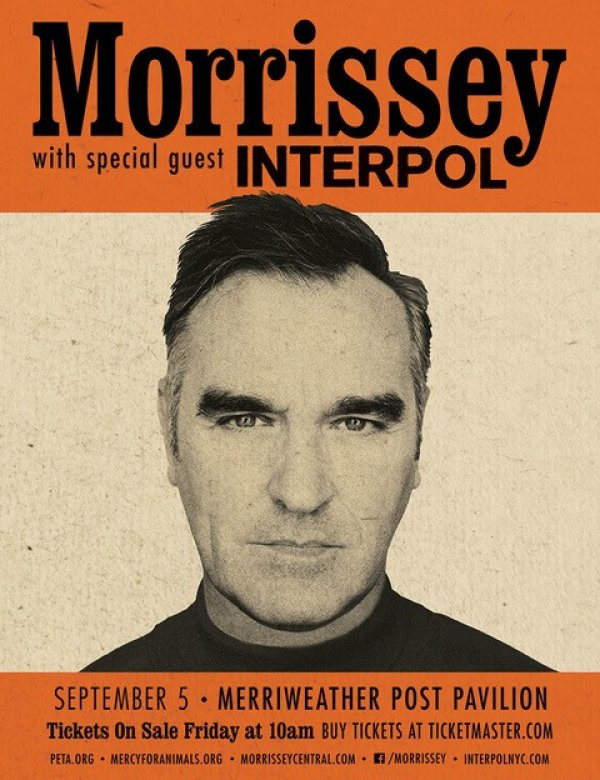 None -     Win Morrissey and Interpol Tickets