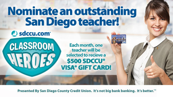 None - Nominate a San Diego Teacher to Win $500!