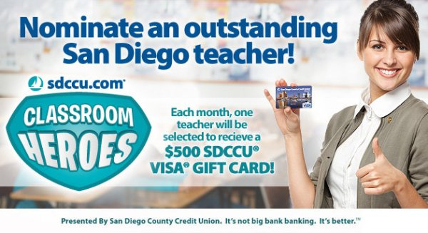 None - Nominate a San Diego Teacher to Win $500!