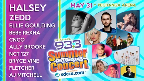 None - Win Channel 933 Summer Kick Off Concert Tickets