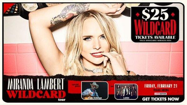 None - Win Miranda Lambert Tickets
