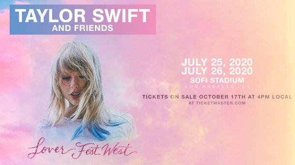 Win Taylor Swift and Friends: Lover Fest West Tickets