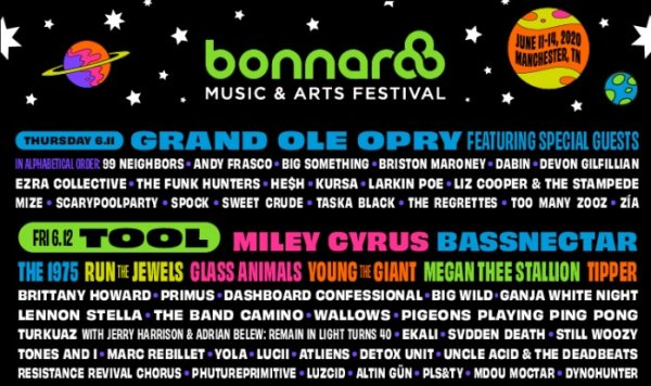 image for Win tickets to Bonnaroo Music & Arts Festival 2020!
