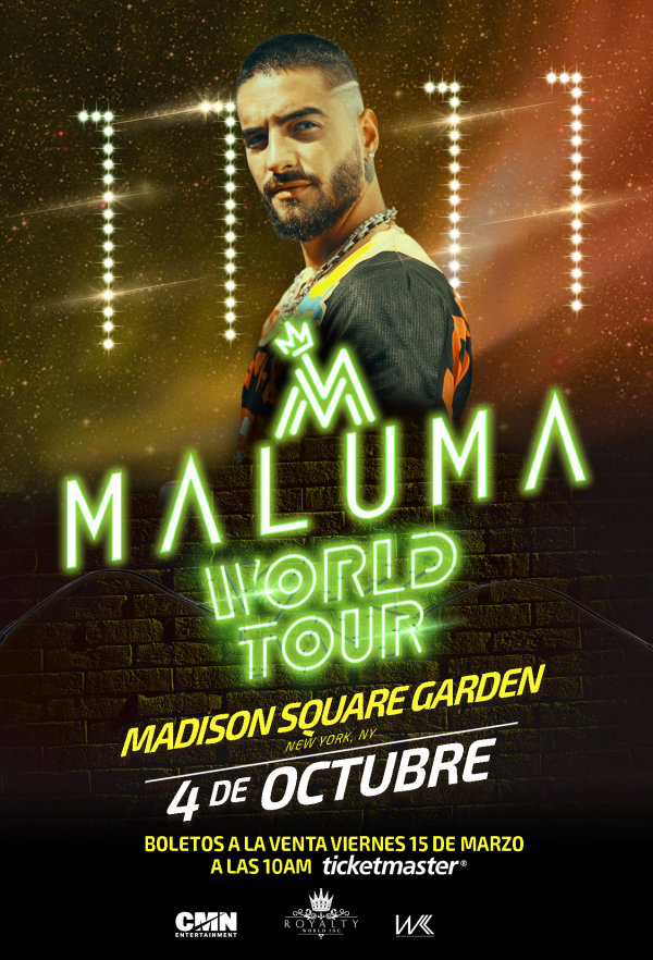 None - Enter For Your Chance To Win A Pair Of Tickets To See Maluma At Madison Square Garden On October 4th!