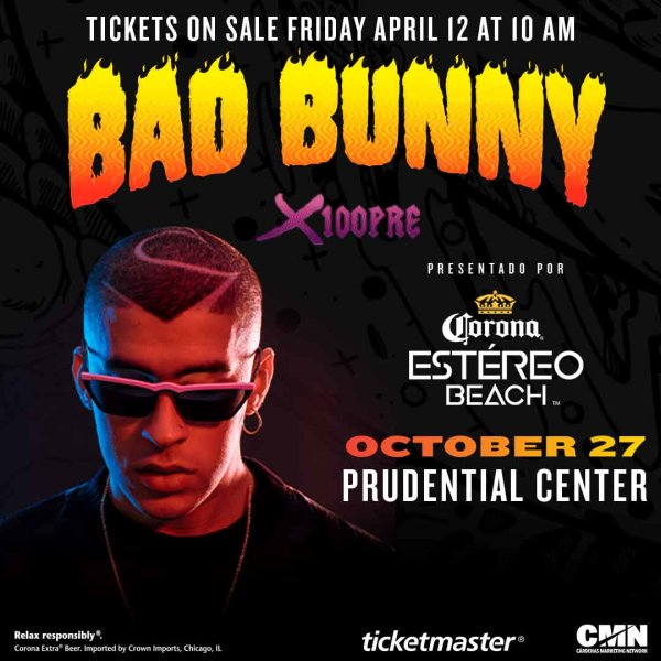 None -  Enter For Your Chance To Win A Pair Of Tickets To See Bad Bunny! 2nd Show Confirmed!