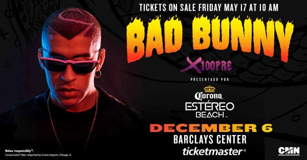None - Enter For Your Chance To Win A Pair Of Tickets To See Bad Bunny!