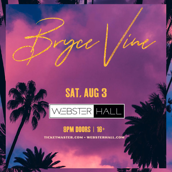 None - Enter For Your Chance To Win A Pair Of Tickets To See Bryce Vine!