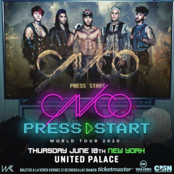 image for Enter For A Chance To Win A Pair Of Tickets To See CNCO!