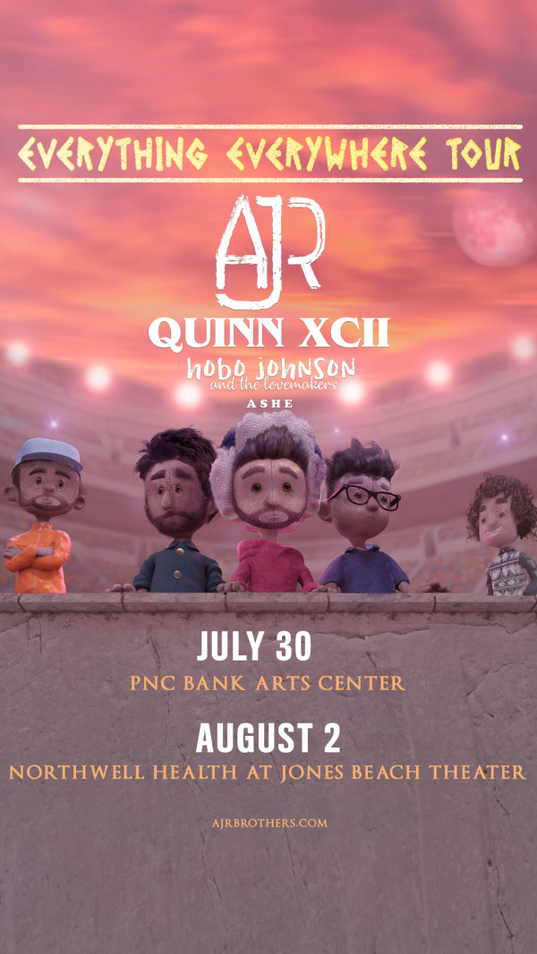 image for Enter For A Chance To Win A Pair Of Tickets To See AJR & Quinn XCII!