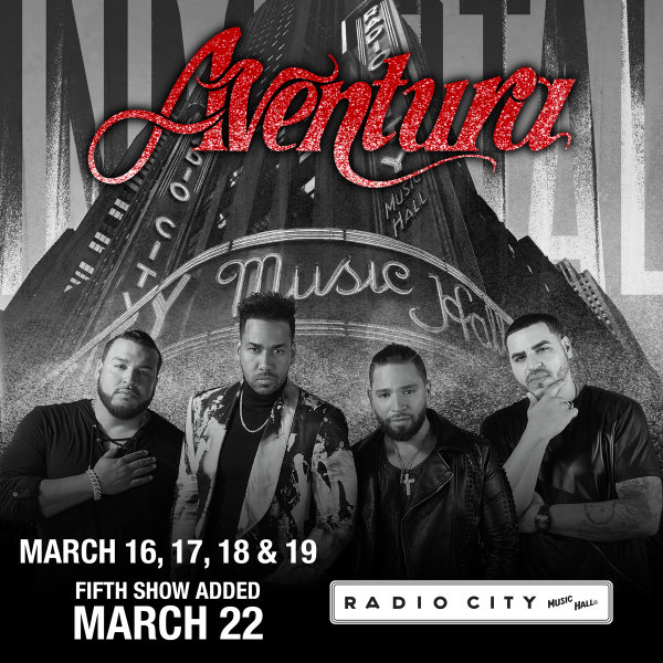 image for Enter For A Chance To Win A Pair Of Tickets To see Aventura!