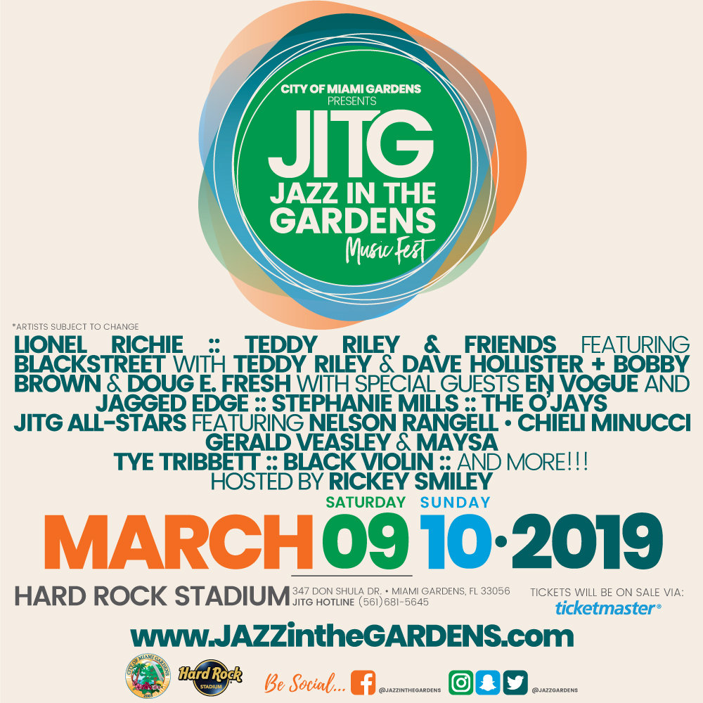 Enter Below For Your Chance To Win 4 Tickets To Jazz In The Gardens