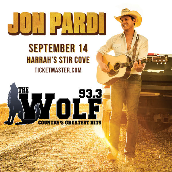 None - Win a pair of tickets to see Jon Pardi live at the Stir Concert Cove, Harrah's Casino, Council Bluffs on Saturday, September 14th!