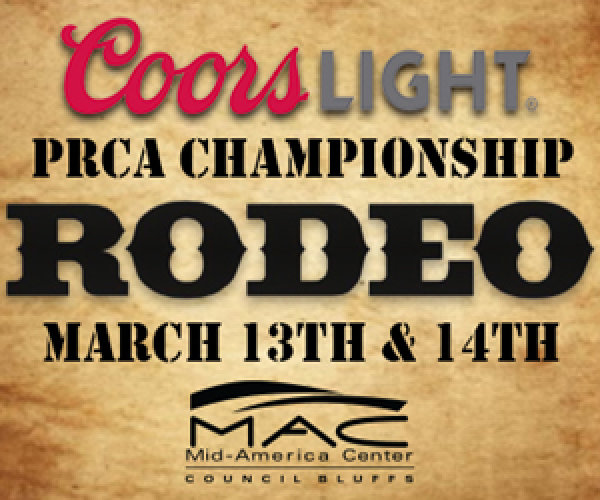 image for Win 4 Tickets to the PRCA Rodeo 2020 at the Mid-America Center March 13-14th!