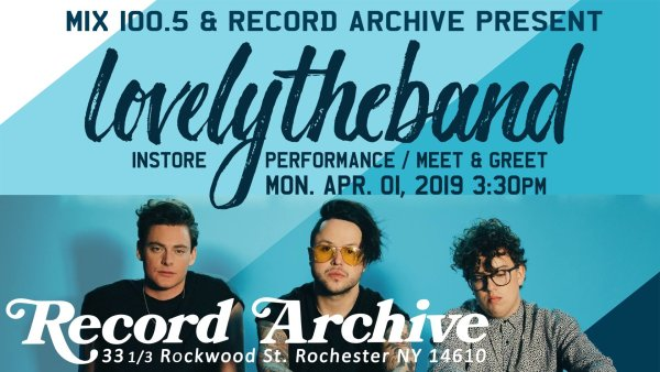 None - Win your way in to see Lovely The Band at Record Archive!