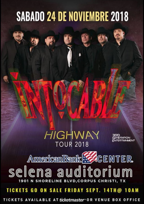 None - Register to win Intocable Tickets plus Meet and Greet Passes!