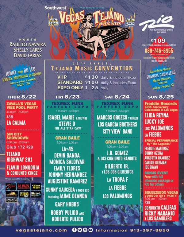 None - Win a Trip for two to the Vegas Tejano Convention!